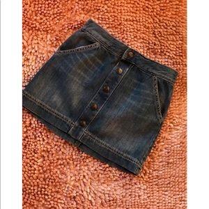 Denim Button Skirt - Crazy 8 - Toddler Girl-5t